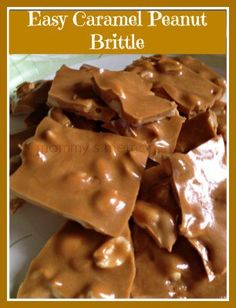 This easy recipe is a twist on the classic peanut brittle with a caramel flavoring.
