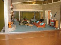 mid century modern dollhouse | Midcentury Modern Dollhouse | eBay
