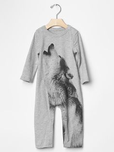 Graphic wolf one-piece Product Image