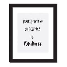Cruelty free clothing that gives back to abused and abandoned animals: www.selflessrebel...  Inspirational quote print \'True spirit of Christmas is kindness\'