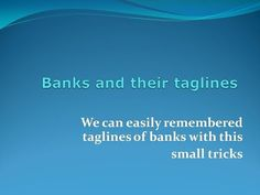 Banks And Their Tag Lines Of Nationalized Banks With Code Words - YouTube