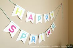 FREE Printable Spring Bunting - Spring Time decorating just got easier! Great for spring time holidays or just simply spring!