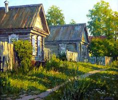 Realistic Landscape Paintings by Dmitry Levin - The Wondrous Realistic Oil Painting, Russian Painting, Russian Art, Watercolor Landscape, Landscape Art, Landscape Paintings, Oil Paintings, Russian Landscape, Russian Architecture