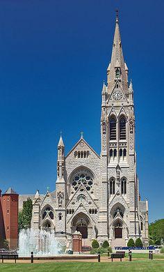 Saint Francis Xavier Roman Catholic Church, in Saint Louis, Missouri, USA - exterior front