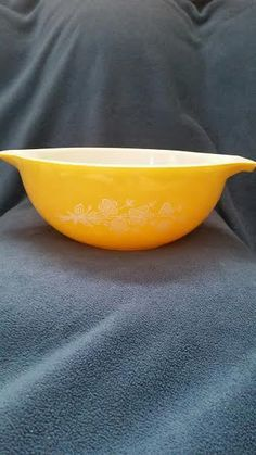 PYREX #443 Butterfly Gold 1979 Redesign 2.5 #7 Mixing Bowl #Pyrex