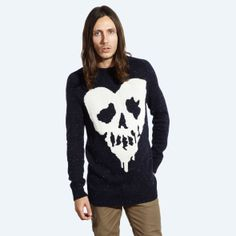 Drop Dead Clothing - Donegal Knitted Sweater (Skull Fucked Edition) // #DDXMASWISHLIST