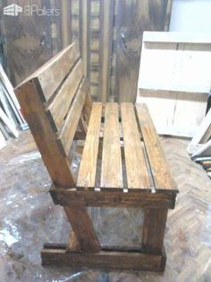 Diy : Benches from 2 Pallets Pallet Benches, Pallet Chairs & Stools furniture ideas furniture diy furniture kitchen furniture plans