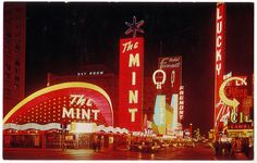 RETRO LAS VEGAS: 1960s Fremont Street Postcard by RetroLand U.S.A., via Flickr