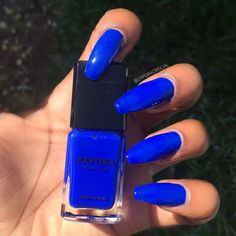 Most Gorgeous Royal Blue Nails Inspirational Design For Fall Prom And Wedding - Page 28 of 81 - Trendy Elves Blue Stiletto Nails, Blue Matte Nails, Blue Coffin Nails, Blue Acrylic Nails, Bling Nails, Peach Nails, Acrylic Colors, Royal Blue Nails, Gel Nails
