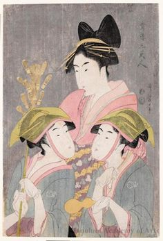 kitagawa utamaro | Kitagawa Utamaro: Three Beauties of Yoshiwara - Honolulu Museum of Art ...