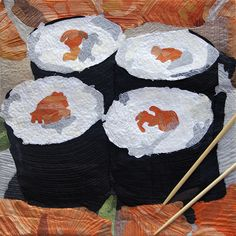 Made in Japan, sushi quilt by Montse Baldenou Rodríguez (Girona) #quilting #japanese_food #sewing #textile_art