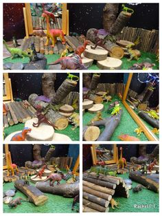 Simple dinosaur play, could be set up in building area as a provocation. Dinosaurs Preschool, Dinosaur Activities, Activities For Kids, Crafts For Kids, Dinosaur Projects, Dinosaur Crafts, Dinosaur Party, Dinosaur Land, Dinosaur Garden