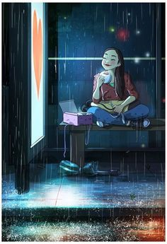 Aesthetic art - Illustrator Yaoyao Ma Van As Perfectly Captures The Happiness Of Living Alone Art Anime Fille, Anime Art Girl, Cartoon Drawings, Art Drawings, Character Art, Character Design, Art Mignon, Art Manga, Inspiration Art