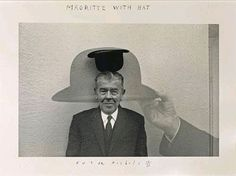 Magritte with Hat - Duane Michals, 1965