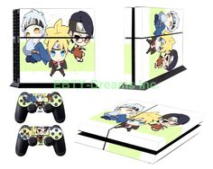 EBTY-Dreams Inc. - Sony Playstation 4 (PS4) - Boruto Naruto Anime Uchiha Sarada Mitsuki Vinyl Skin Sticker Decal Protector