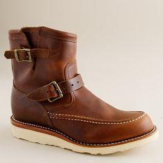 Chippewa boots, vibram sole