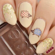 #Hedgehog Nail Art