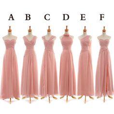 Long Blush Chiffon Bridesmaid Dresses Prom Dresses from dressbridals by DaWanda.com