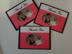 Our Thank You cards, handmade, 2012.