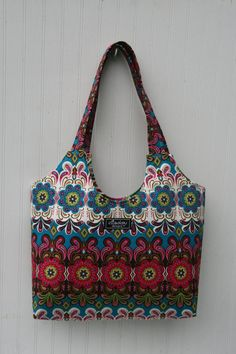 Boho Tote Bag in Woodland Motif by ElisaLou on Etsy, $65.00