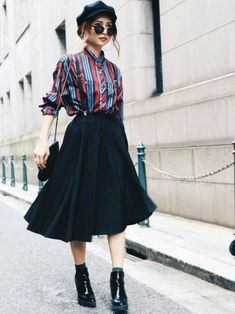 Vintage Autumn Look Madder Vintage Online Shop - Fashion - . - Fashion Trends for Girls and Teens Japanese Street Fashion, Tokyo Fashion, Korean Fashion, Runway Fashion, Look Fashion, Trendy Fashion, Girl Fashion, Fashion Outfits, Fashion Tips