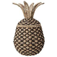Nate Berkus Woven Pineapple Decorative Container : Target Mobile
