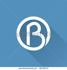 B letter in a circle logo. Vector design template elements for your application or corporate identity. Design Vector, Web Design, Logo Design, Graphic Design, B Monogram, Circle Logos, Corporate Identity, Letter Logo, Lettering Design