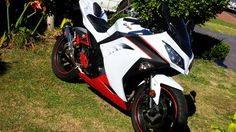 #Ninja 300 Kawasaki Ninja 300, Ride Or Die, Super Bikes, Biker Girl, Custom Bikes, Custom Paint, Vehicles, Motorcycles, Sport