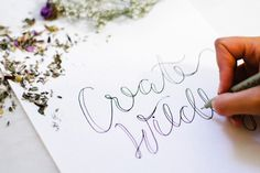 How To Create Faux Calligraphy + A Giveaway! | Free People Blog #freepeople