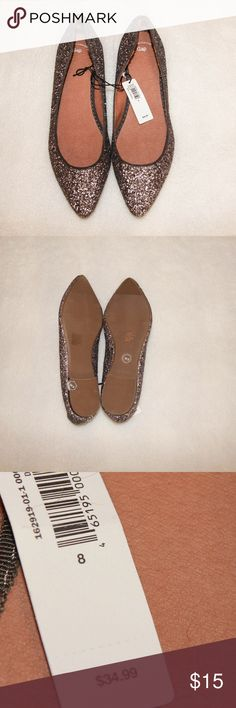 NWT GAP Flats!! Gorgeous glitter brown flats!  Brand new, never worn!! GAP Shoes Flats & Loafers