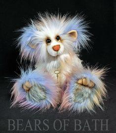 Rainbow Tree a 10-11 inch Capability Artist Bear by Carol's Bears of Bath #BearsofBath Bear Fishing, Charlie Bears, Green Mountain, Owl, Rainbow, Bath, Sweet, Artist, Animals