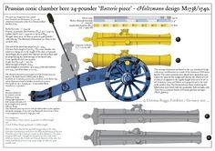 1738 Pieza de batería prusiana de 24 libras Holtzmann
