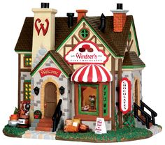 Lemax Fine Chocolate Shop.  SKU# 35595 - Released in 2015 as a Lighted Building for Vail Village.
