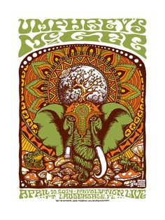 Umphrey's McGee concert poster at Revolution Live in Ft. Lauderdale by Nathaniel Deas on Etsy, $25.00