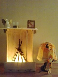 Fireplace. Idea from Pinterest! ;-)