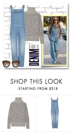 Crazy about denim by myenglishmood on Polyvore featuring moda, Theory, MiH Jeans, Prada, Alima and Post-It