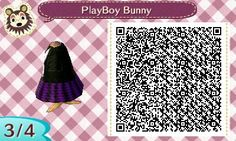 My playboy bunny dress I made on animal crossing (qr code 3)