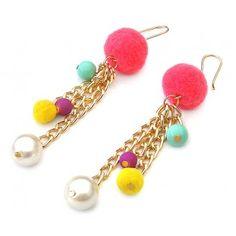 Silk Thread Earrings, Thread Jewellery, Beaded Jewelry, Beaded Bracelets, How To Make Earrings, Bead Earrings, Handmade Bracelets, Handmade Jewelry, Craft Accessories