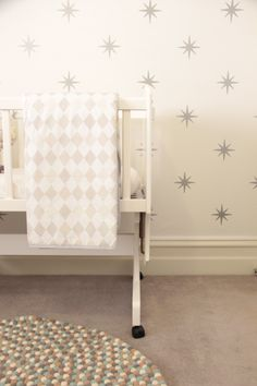 nursery with star wallpaper