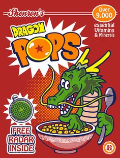 Dragon Pops cereal! Free radar inside! #DBZ