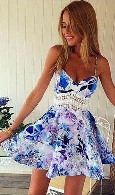 Floral Spaghetti Straps Dress