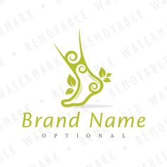 Logo template with idea of stylized foot, heel and ankle body parts, decorated with spirals and leaves. Theme can symbolize healing, recovery, painless Paraffin Bath, Dancing Barefoot, School Logo, Travel Logo, Logo Templates, Pedicure, Fabric Design, Recovery, Logo Design