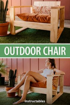 Do you enjoy to redesign your backyard, as much as we do? I am pretty sure, the answer is yes :-)  Here is an article related with outdoor space ideas. Modern Outdoor Chairs, Outdoor Furniture Plans, Woodworking Furniture Plans, Diy Furniture Couch, Diy Furniture Plans Wood Projects, Easy Woodworking Projects, Popular Woodworking, Diy Chair, Furniture Ideas