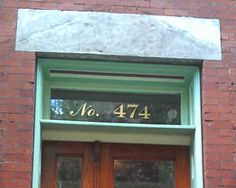 Classic Gold Foil Adhesive House Number - High - Sold Each Traditional House Numbers, House Address, Address Numbers, Transom Windows, Facade House, Home Signs, Historic Homes, Location, House Plans