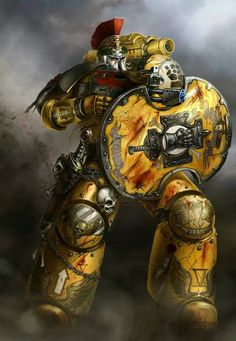 Imperial Fist-great adaptation of the shield for  non-polearm use.