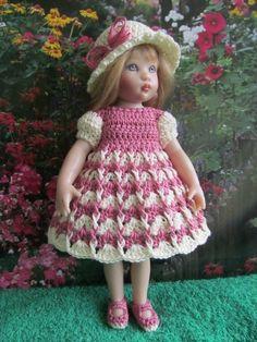 "Crochet Dress Set for 7 1 2"" Riley Kish Doll | eBay"