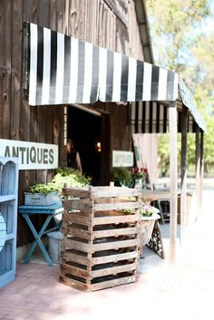 An old barn would be converted into an antique and garden shop :) One day I will have something like this!