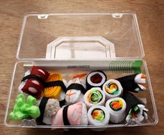 Children's Play Felt Food - Sushi. $16.50, via Etsy.