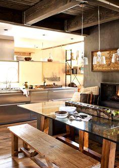 Cozinha estilo industrial  Você conhece o bougue? Aqui você encontra profissionais e orçamentos de serviços da sua região! http://bougue.com.br  #bougue #reforma #decoração #casa #construção #orçamento #rapidez #inspiração #dica #reparar #instalar #obra #contratar #prestadores #serviço