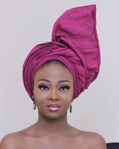 Tantalizing Facial Makeups for Black Ladies - Ani Exclusive African Print Fashion, African Fashion Dresses, African Dress, African Hair, African Prints, African Makeup, African Beauty, How To Tie Gele, African Head Wraps